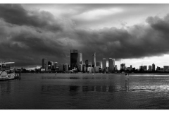 Storm over Perth City_3 Panorama 2 BW